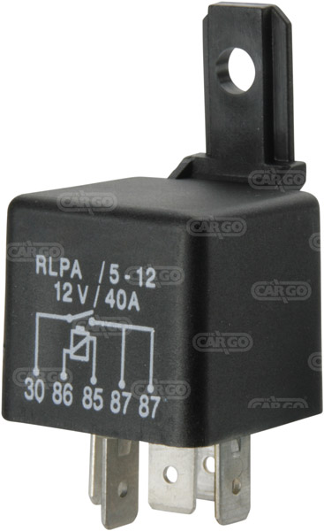 70A Sealed with Resistor 12V Mini Relay HC CARGO 160468